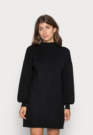 VMNANCY FUNNELNECK DRESS - Jumper dress - black