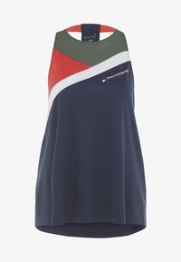 Tommy Sport - BLOCKED HIGH NECK TANK LOGO - Sports shirt - blue - 5