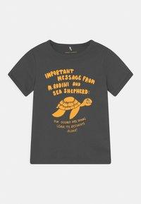 Mini Rodini - TURTLE TEE UNISEX - T-shirt imprimé - dark grey - 0