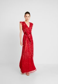 Maya Deluxe - EMBELLISHED MAXI DRESS WITH SASH BOW TIE - Ballkjole - red - 2