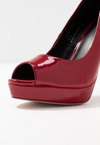 Faith - LOOK - Peeptoe heels - red - 2
