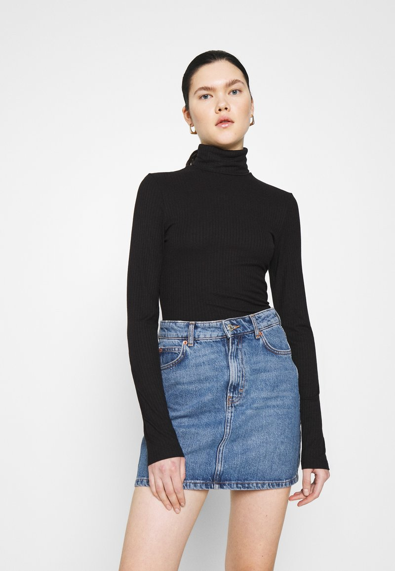 Monki - ELIN  - Long sleeved top - black