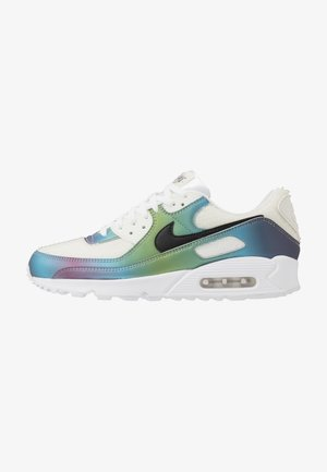 AIR MAX 90 20 - Sneakersy niskie - summit white/black/multicolor/white/metallic silver