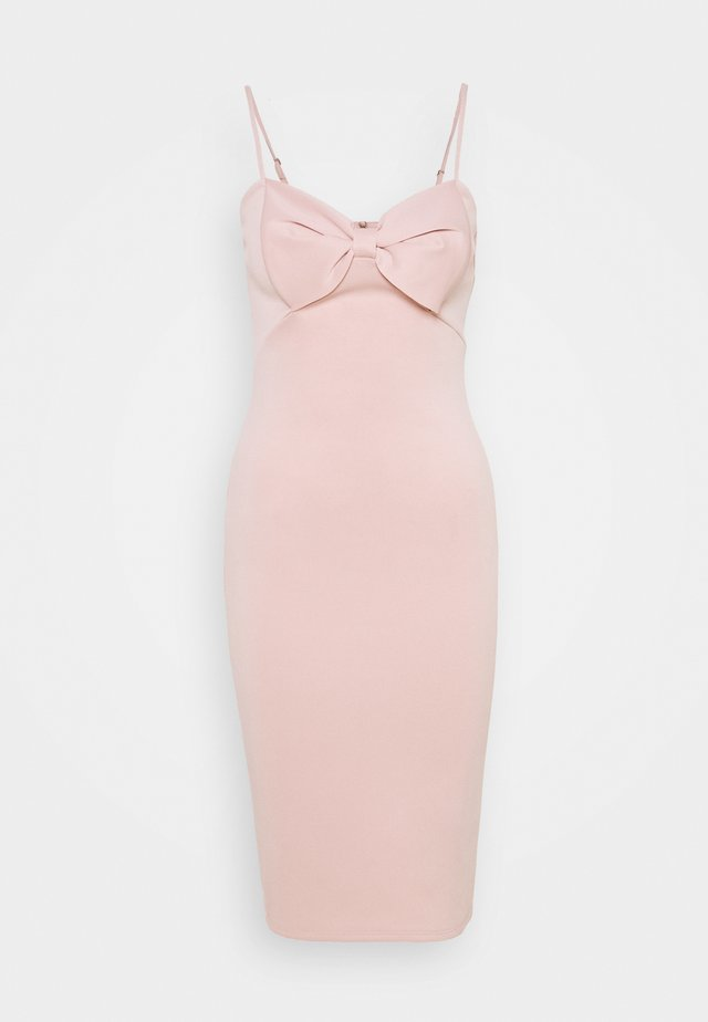 BOW MIDI - Cocktail dress / Party dress - nude