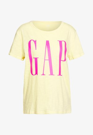 EASY TEE LOGO - Print T-shirt - spring yellow
