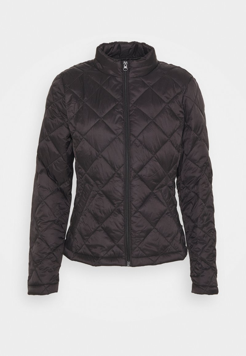 Vila - VIMINSK SHORT QUILTED JACKET - Lett jakke - black