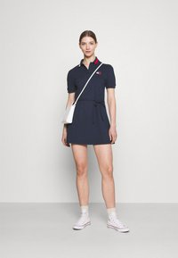 Tommy Jeans - FLARED FLAG DRESS - Day dress - twilight navy - 1