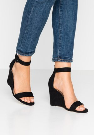 PORTREE VEGAN - High heeled sandals - black