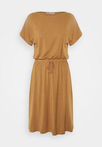 Jersey dress - light brown