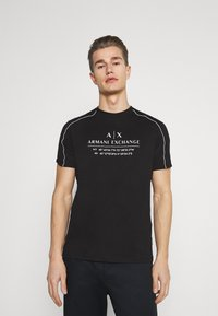 Armani Exchange - T-shirt con stampa - black - 0