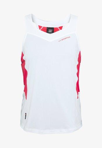 JOY TANK - Tekninen urheilupaita - white/hibiscus