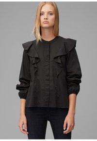 Marc O'Polo DENIM - Button-down blouse - black - 0