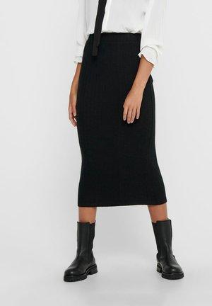 ROCK LANGER - Pencil skirt - black