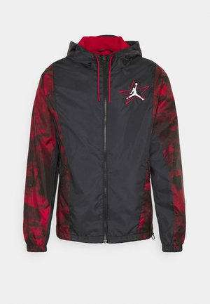 Summer jacket - black/gym red