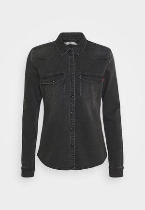 LUCINDA - Button-down blouse - black denim