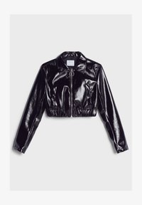 Bershka - VINYL - Leather jacket - black - 4