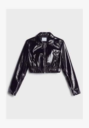 VINYL - Leather jacket - black