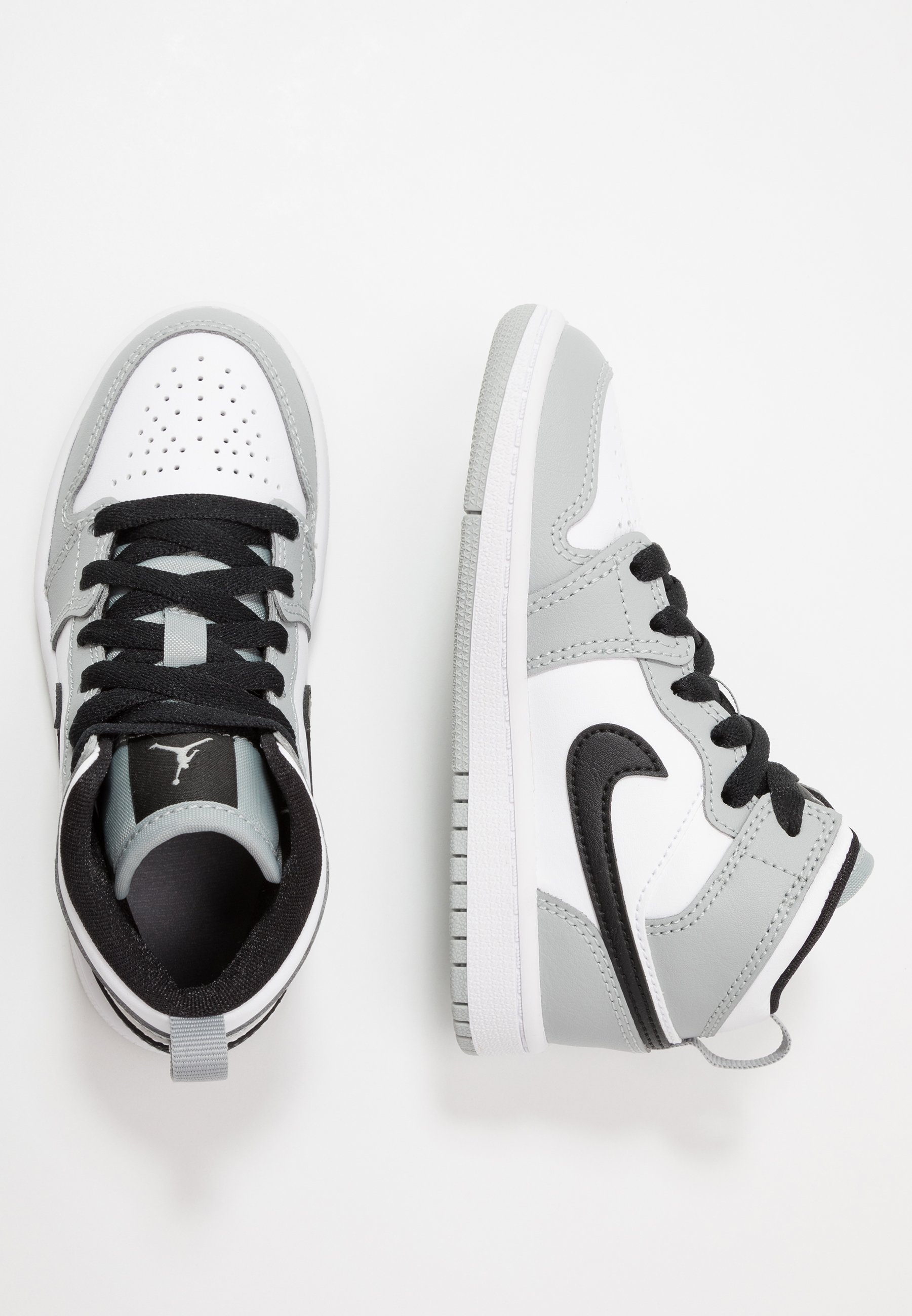 Jordan 1 MID UNISEX - Chaussures de basket - light smoke grey ...