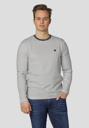 ANDIE - Long sleeved top - white/dark grey
