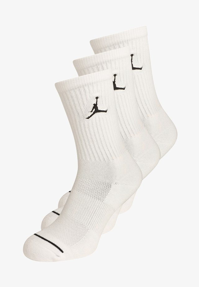 JUMPMAN CREW 3 PACK - Sportssokker - white/black