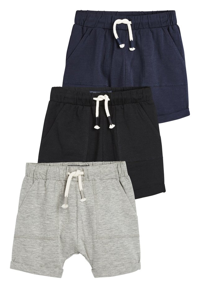 3 PACK LIGHTWEIGHT SHORTS - Shorts - black