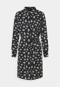 Vero Moda - VMSAGA COLLAR SHIRT DRESS  - Shirt dress - black/dara - 5