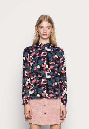 JDYBROOKE SHIRT - Button-down blouse - black/multicolor