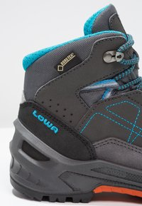 Lowa - APPROACH GTX MID JUNIOR - Walking boots - anthrazit/türkis - 5