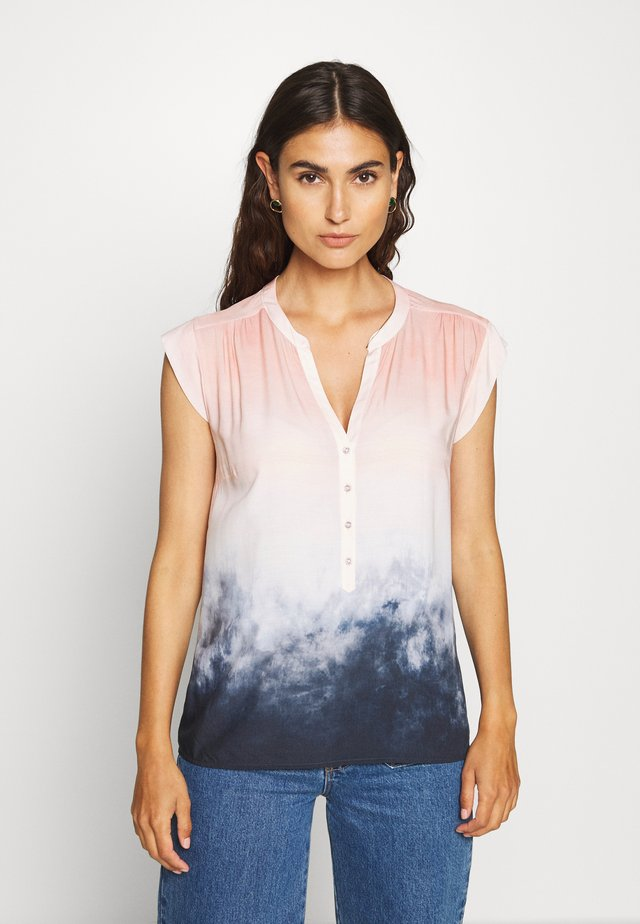 Blouse - rosé/blue