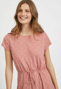Vila - VIMOONEY STRING - Jersey dress - old rose - 3