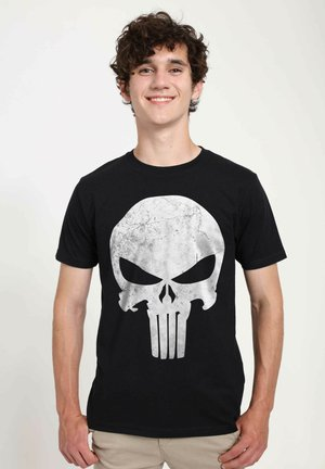 MARVEL PUNISHER DISTRESSED SKULL - T-shirt print - black