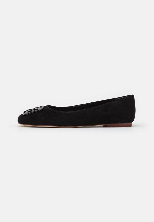 SQUARE TOE BALLET - Ballerina's - black