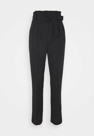 MILLER TIE WAIST TROUSER - Pantaloni - black