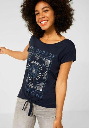 KNOTEN - Print T-shirt - blau