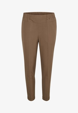 NANCI JILLIAN - Pantalones - brown, ochre