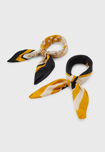 2 PACK - Foulard - mustard yellow/black/grey