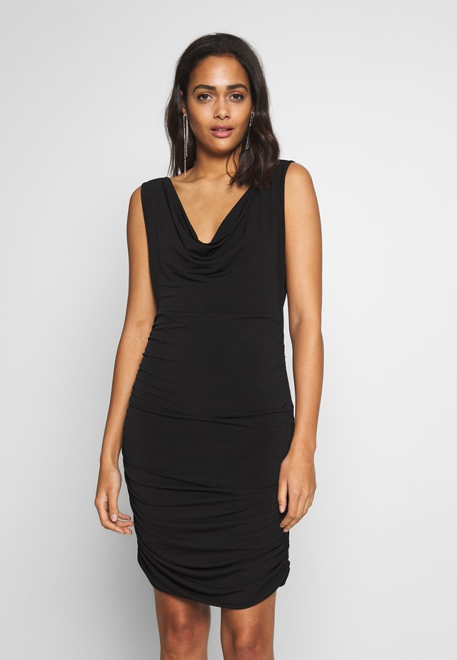 COWL NECK NECKLINE DRESS - Sukienka koktajlowa - black