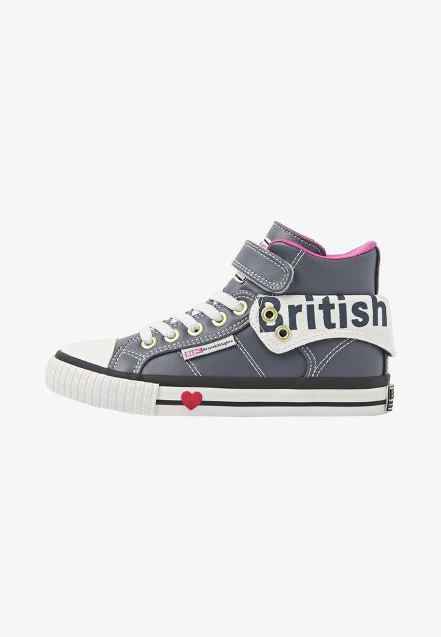 ROCO - Sneakers hoog - dk grey/fuchsia