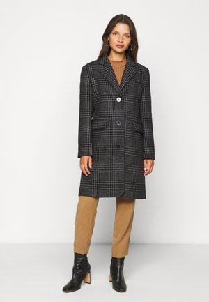 SLFELINA CHECK COAT - Zimní kabát - black