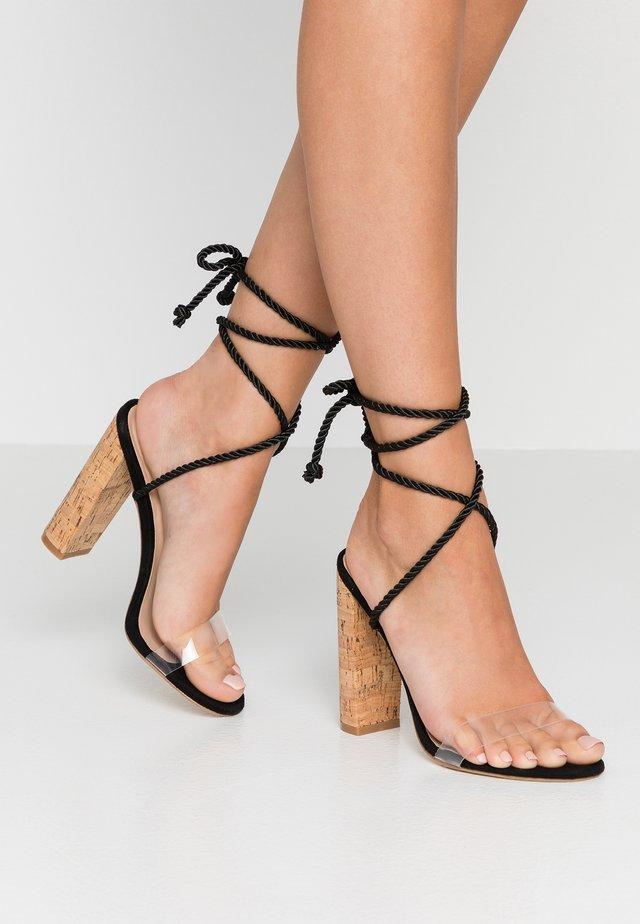 SUMMER - Sandalen met hoge hak - black