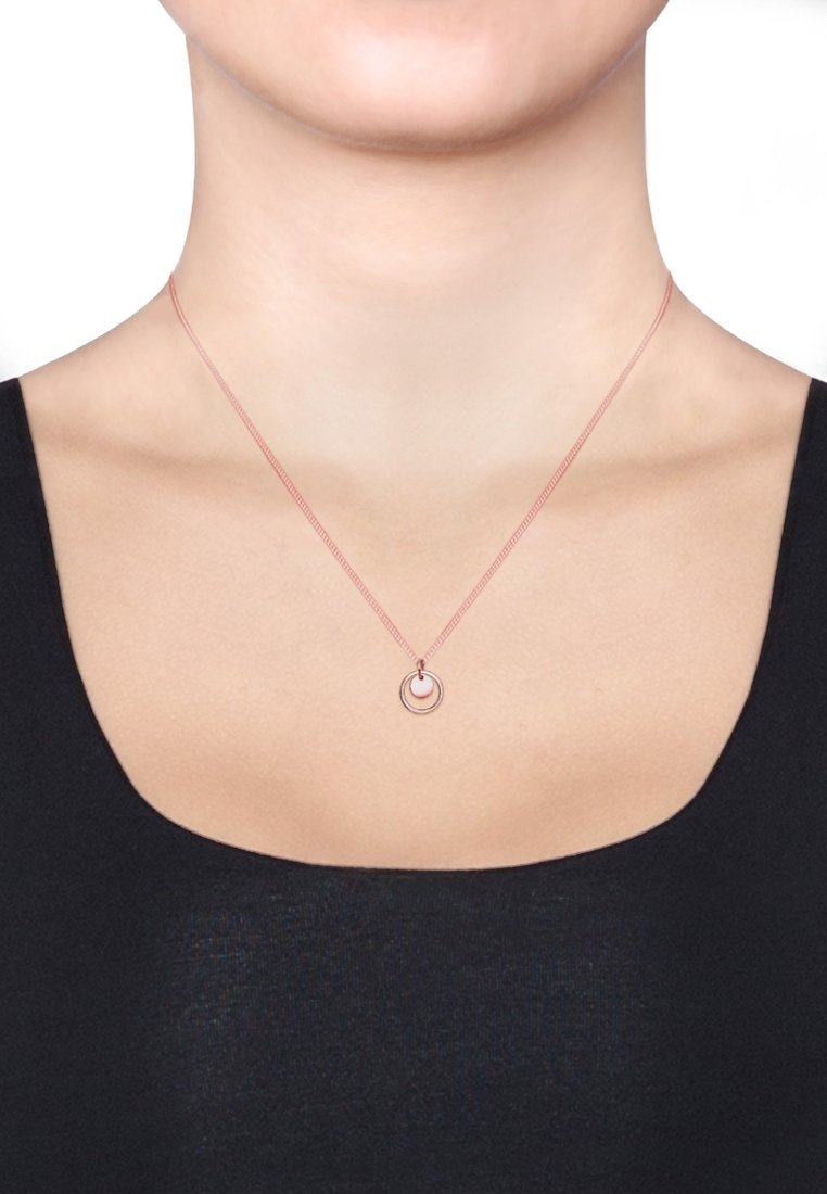 Elli - KREIS RUND GEO - Necklace - rosegold-coloured
