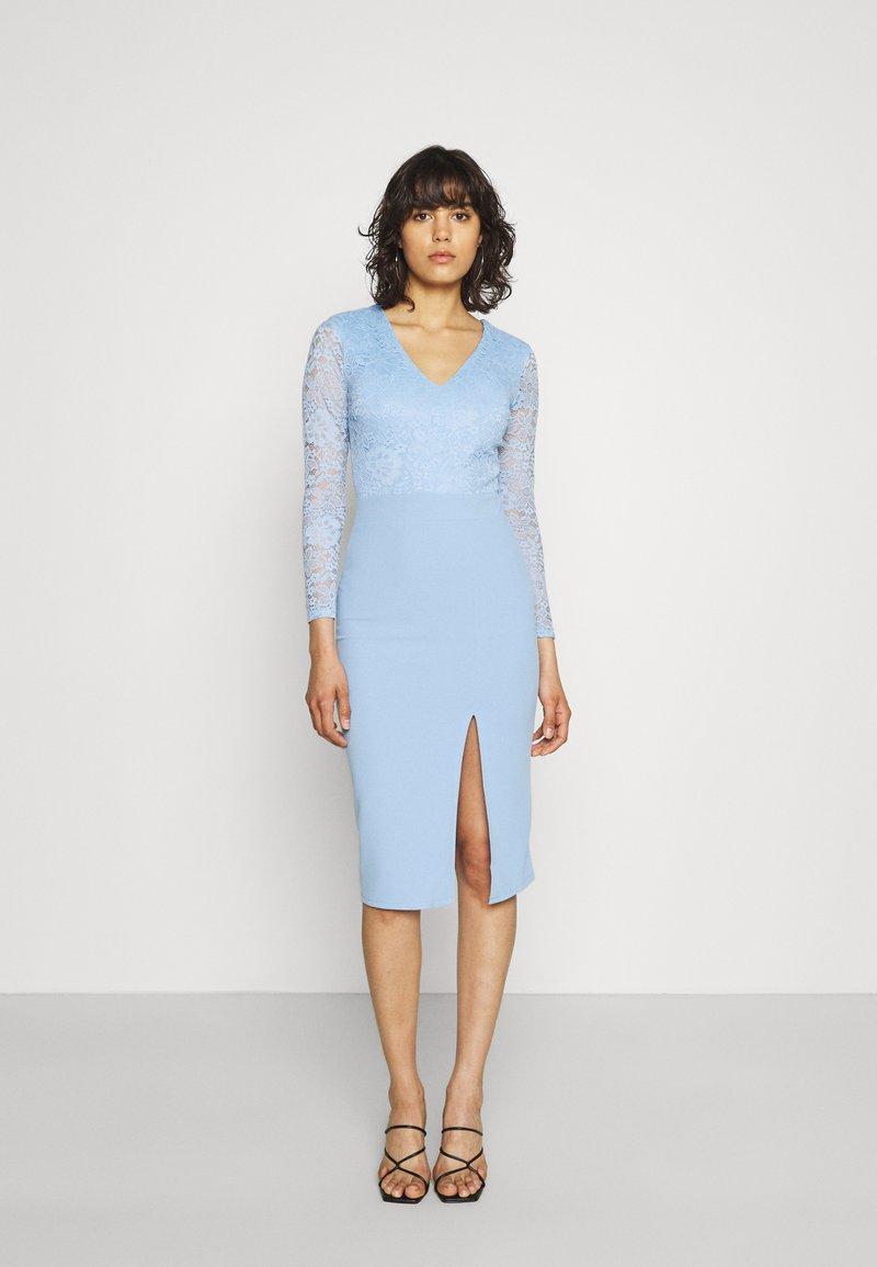 WAL G. - MENA LACE MIDI DRESS - Jersey dress - powder blue