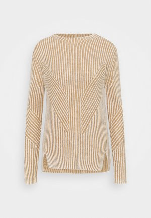 2-TONE RIB - Jumper - whisper white