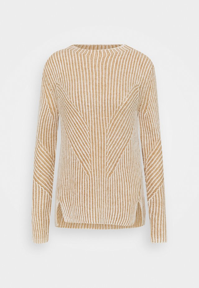2-TONE RIB - Stickad tröja - whisper white