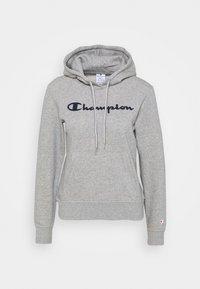 Champion - ESSENTIAL HOODED LEGACY - Mikina skapucí - mottled grey - 4