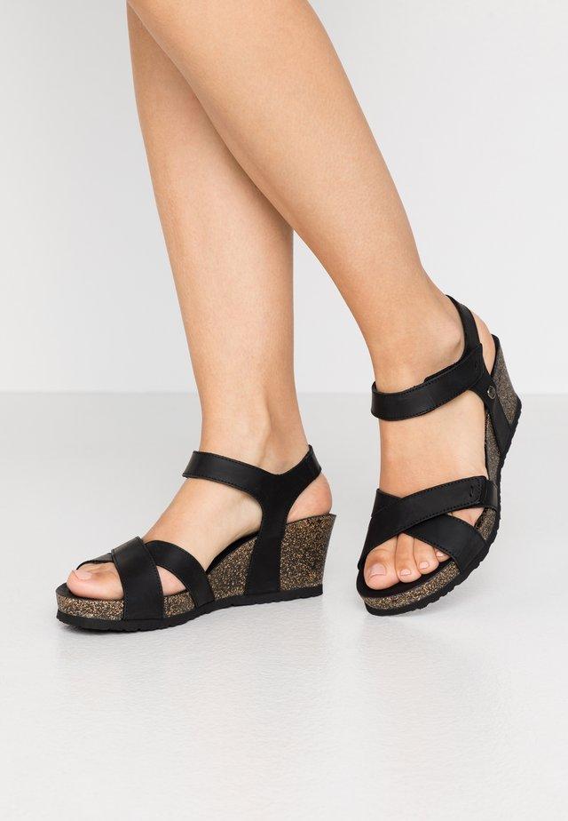 VIERI BASICS - Korkeakorkoiset sandaalit - schwarz