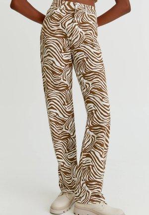 Jeans straight leg - brown