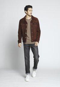 Goosecraft - MOJAVE DESERT - Veste en cuir - rodeo brown - 1