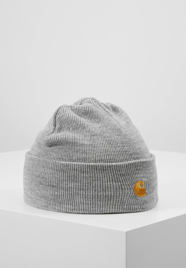 CHASE BEANIE - Berretto - grey heather/gold