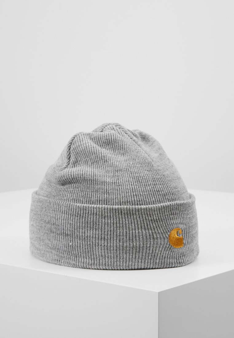 Carhartt WIP - CHASE BEANIE - Pipo - grey heather/gold